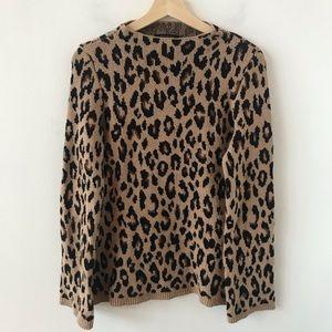 Ann Taylor leopard print sweater